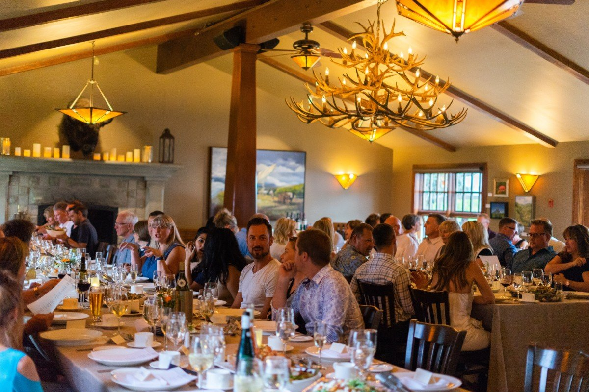 The 4th annual Harvest Dinner at the Bow Valley Ranche Restaurant